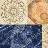 Astrology Backgrounds Collage Sheet