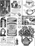 Black & White Tea Things Collage Sheet