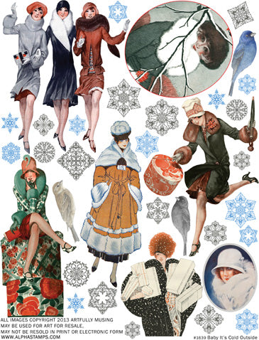 Baby Its Cold Outside Collage Sheet