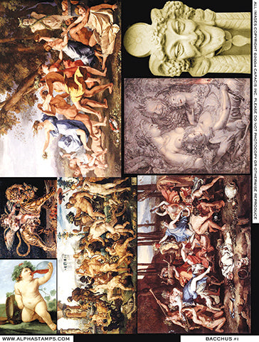 Bacchus #1 Collage Sheet