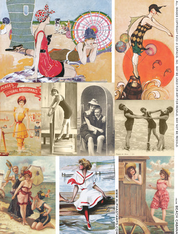 Beach Cabana Collage Sheet