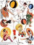 Beach Babes Collage Sheet