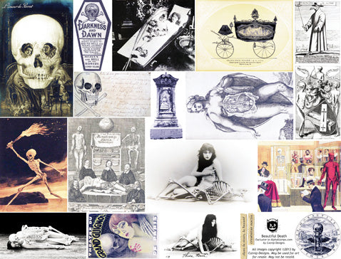 Beautiful Death Collage Sheet