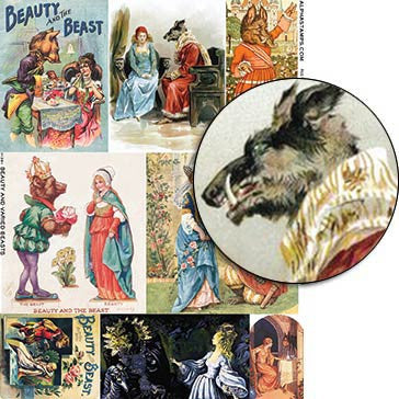 Beauty and Varied Beasts Collage Sheet