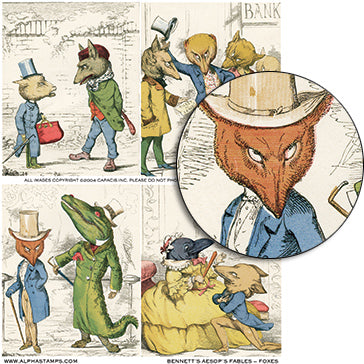 Bennett Aesop's Fables #2 (Foxes) Collage Sheet