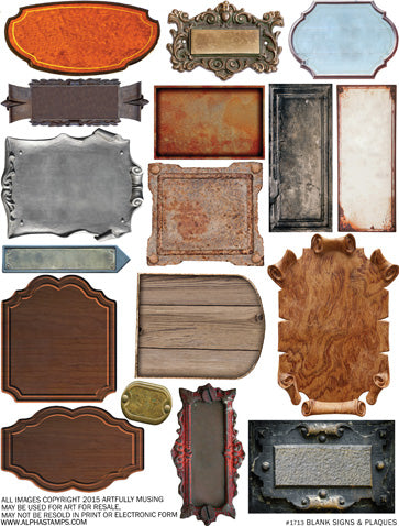 Blank Signs & Plaques Collage Sheet