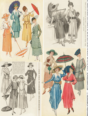 Boardwalk Fashions Collage Sheet