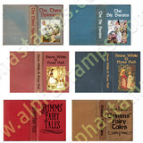 Brothers Grimm Books Collage Sheet