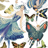 Butterfly Fairies #1 Collage Sheet
