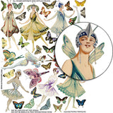 Butterfly Fairies #2 Collage Sheet