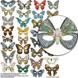 Butterfly Masks Collage Sheet