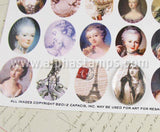 40x30mm French Ovals Half Sheet