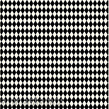 Black & Ivory Harlequin Diamond Scrapbook Paper
