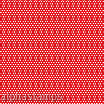 Red & Ivory Mini Polka Dot Scrapbook Paper