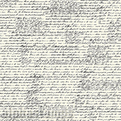 Black & Ivory French Calligraphy Scrapbook Paper