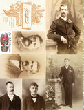 Cabinet Cards: Men Collage Sheet