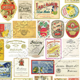Cafe Bottle Labels Half Sheet