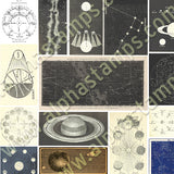 Celestial Collage Sheet