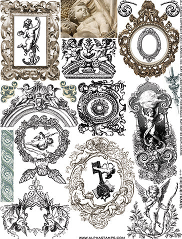 Cherub Frames Collage Sheet