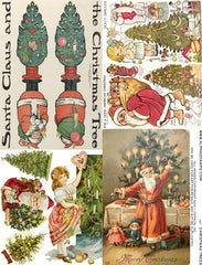 Christmas Trees Collage Sheet