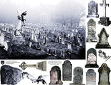 Churchyard Cemetery Collage Sheet