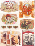 Cigar Label Oddities Collage Sheet
