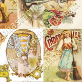 Cinderella Coach Paper Toy Collage Sheet
