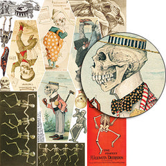 Coffin Skeletons Collage Sheet