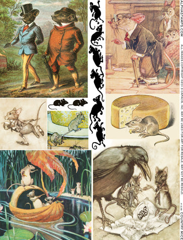 Country Mice Collage Sheet