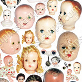 Creepy Dolls Collage Sheet