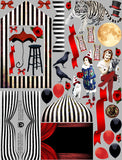 Dark Circus ATC Frame Set Collage Sheet