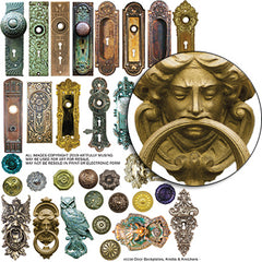Door Backplates, Knobs & Knockers Collage Sheet