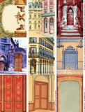 Doorways - Colorful Collage Sheet