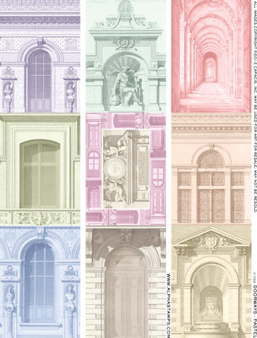 Doorways - Pastel Collage Sheet