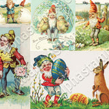 Easter Gnomes Collage Sheet