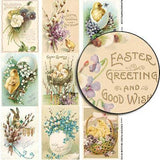 Easter Pussy Willow ATCs Collage Sheet
