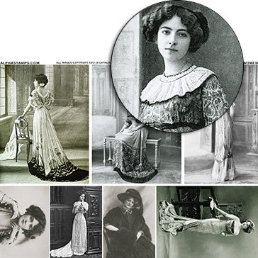 Edwardian Women Collage Sheet