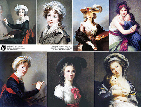 Elisabeth Vigee Lebrun Collage Sheet