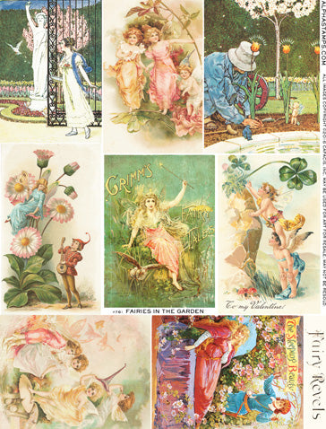 Fairies in the Garden Collage Sheet