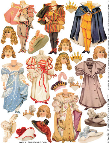 More Fairy Tale Costumes - Royalty Collage Sheet