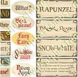 Fairy Tale Titles Collage Sheet