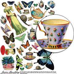 Fairy Tea Party Collage Sheet