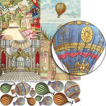 Festivals & Hot Air Balloons Collage Sheet