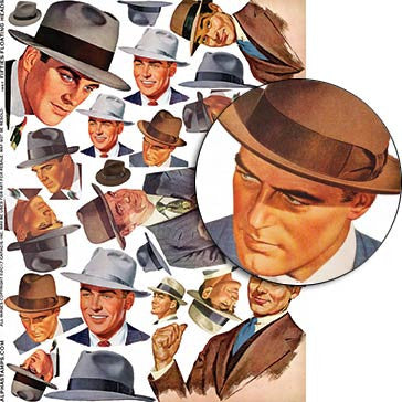 Fifties Floating Heads Collage Sheet