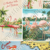 Florida & Flamingo Postcards Collage Sheet