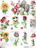 Flower Faces Collage Sheet