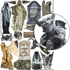 Forsaken Cemetery Collage Sheet