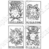 French Playing Cards Collage Sheet