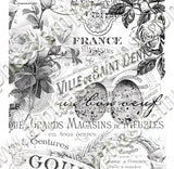 French Floral Overlays Collage Sheet