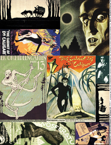 German Expressionist Horror Collage Sheet